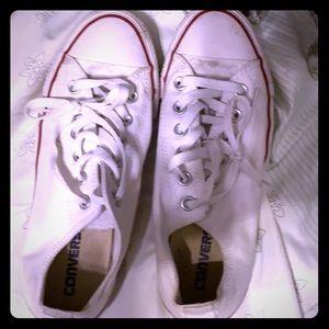 Converse white tennis shoes